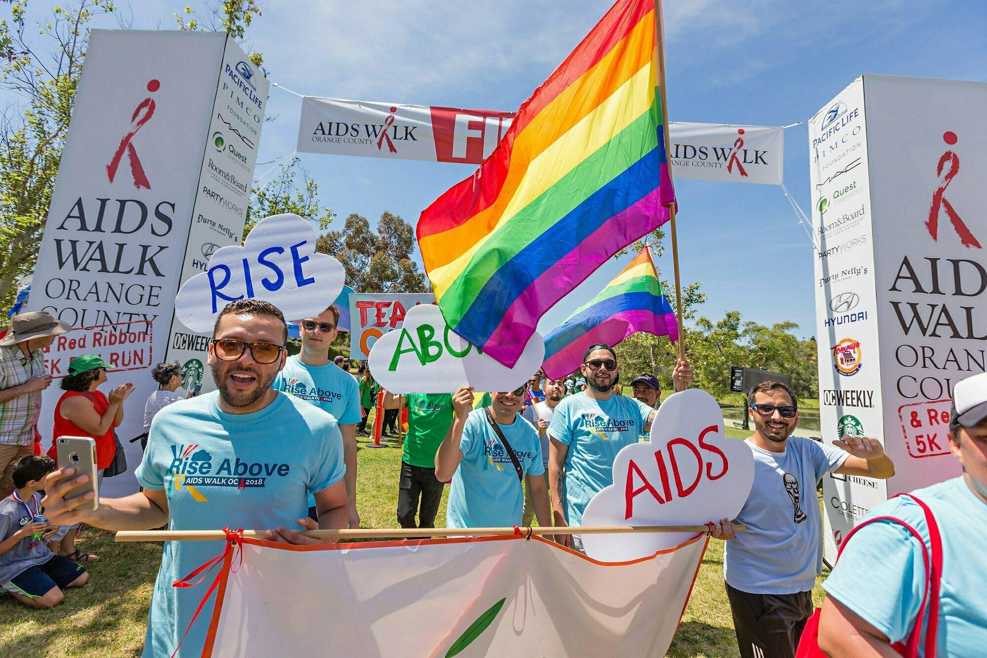 aids walk oc radiant health centers