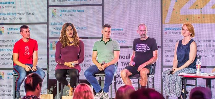 LGBTs In The News panelists answering questions about preventing HIV with PrEP