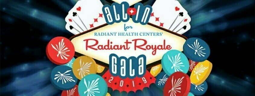 Logotipo de la Gala Radiant Royale de Radiant Health Centers