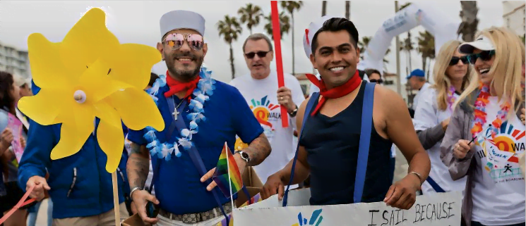 Members of the Orange County LGBTQ+ community participating in the AIDS Walk