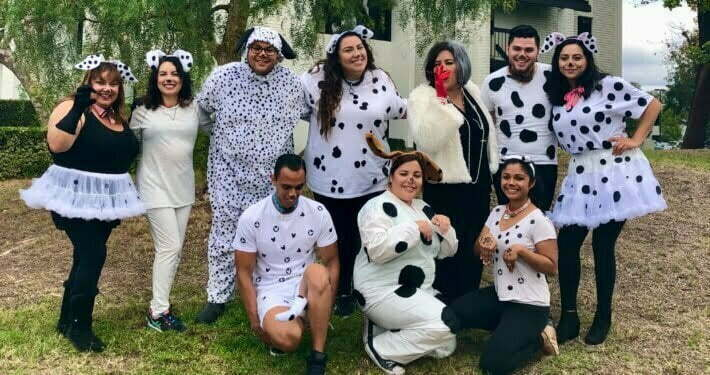 Radiant Health Centers staff in Dalmatian costumes