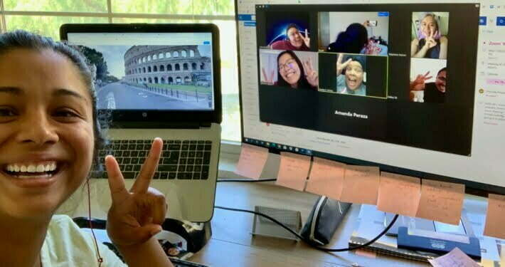 Radiant Health Centers staff on a Zoom meeting