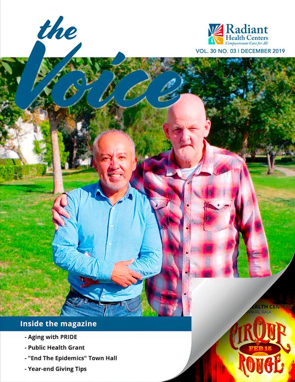 Senior LGBTQ+ couple in Aging with Pride program